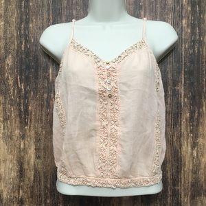American Eagle Blush Pink Knit Strap Tank Top